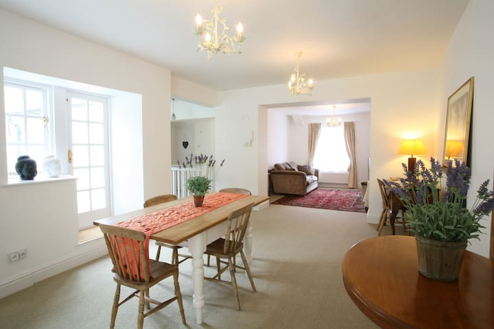 Lovely central flat w/ roof terrace - Sherborne - Apartment