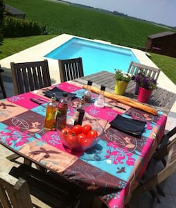 Maison au calme avec piscine - Oupeye
