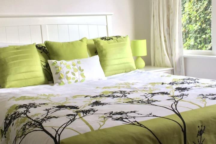Serene Green Bedroom.