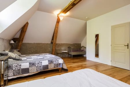 Family room in a Burgund castle - Barbirey-sur-Ouche - 家庭式旅館