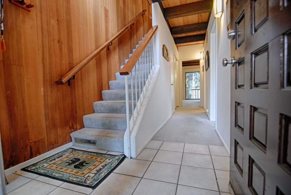 Main entry with stairway going to second floor
