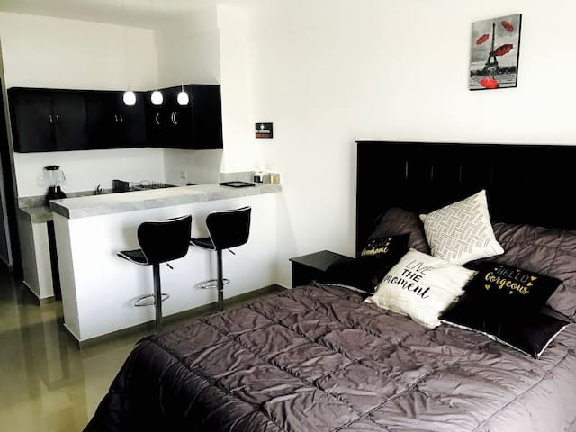 Charming Suite near the sea with car for rent