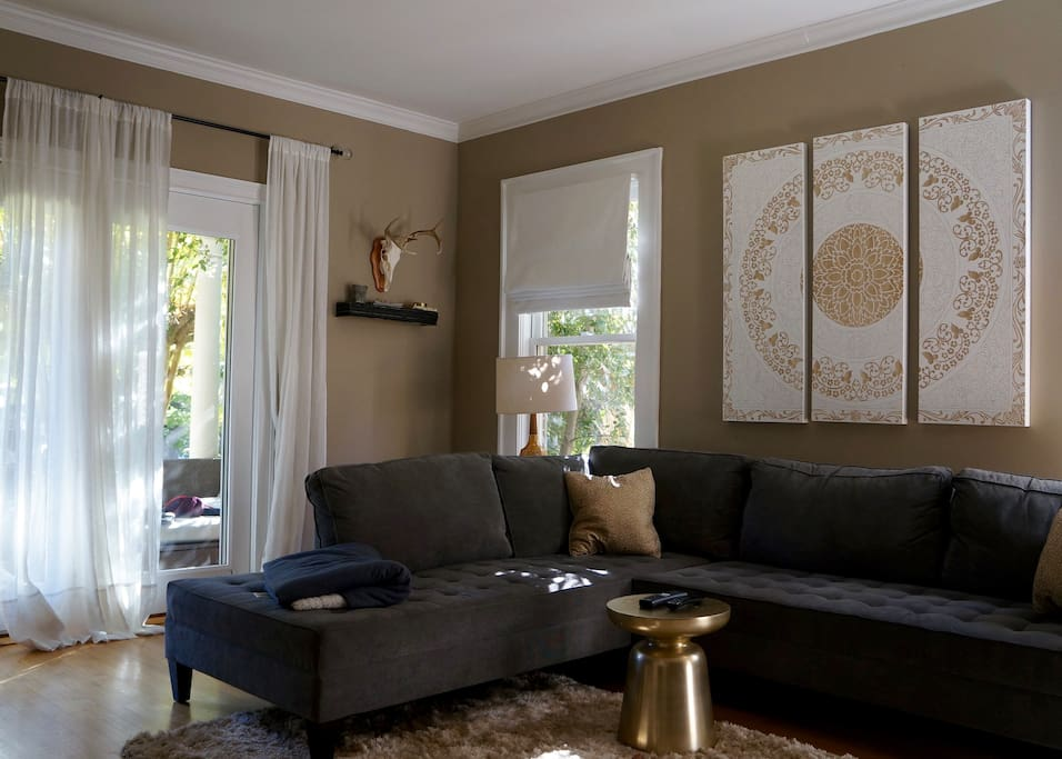 Living room offers a great space for entertaining