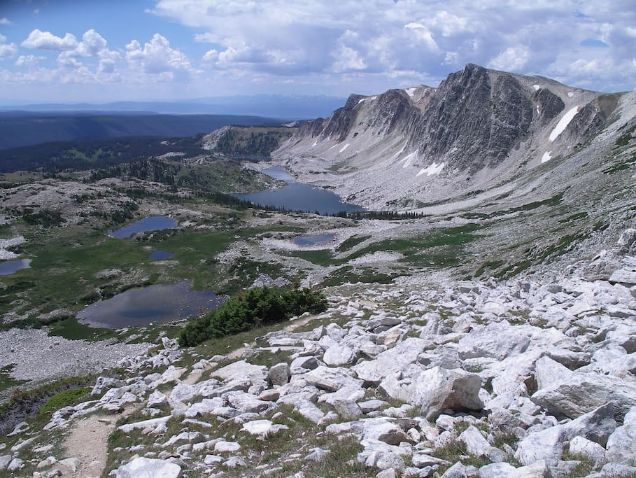 View from the climb up Medicine Bow Peak