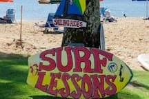 SO MUCH to do!  All right here within easy walking distance! Learn to surf or paddle board!