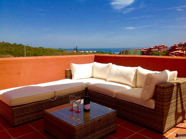 3 bed Penthouse apt on Costa Galera with pools