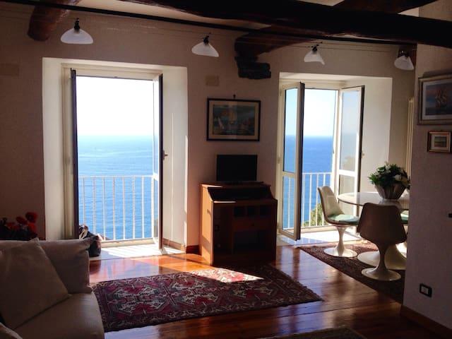 Zoagli vista mare; Charming house with sea view - Zoagli