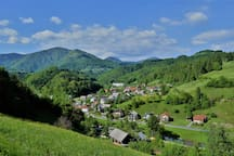 Small village of Hotavlje where our homestead is located.