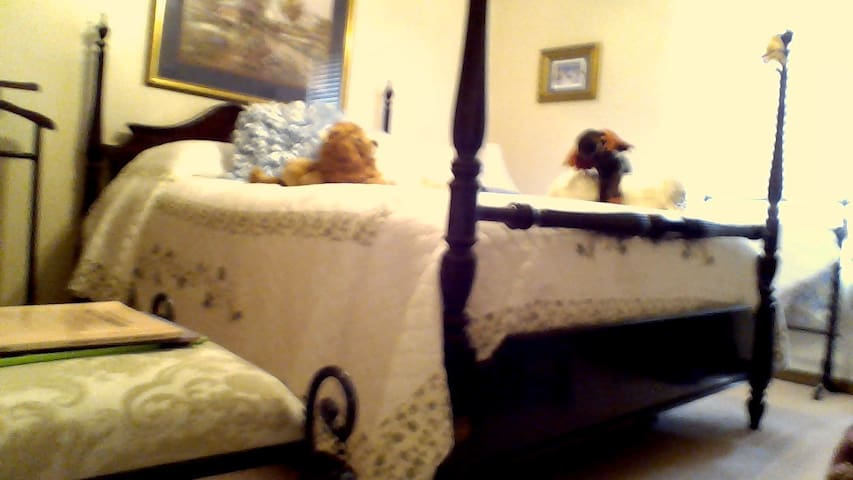 private  queen size bed and bath