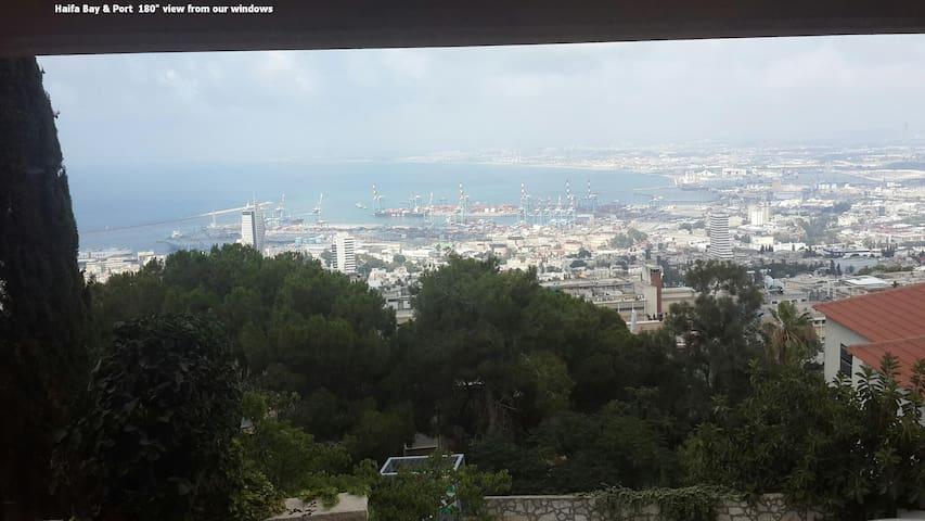 Haifa CARMEL luxury romantic studio apartment+view