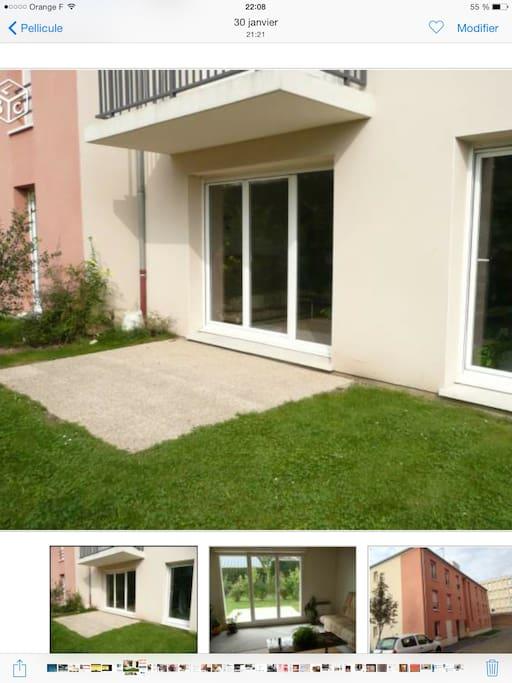 appartement avec jardin appartements louer amiens picardie france. Black Bedroom Furniture Sets. Home Design Ideas