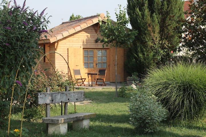 "petit chalet en bois ""la grenette"" - Saint-Paul-lès-Romans - กระท่อมบนภูเขา"