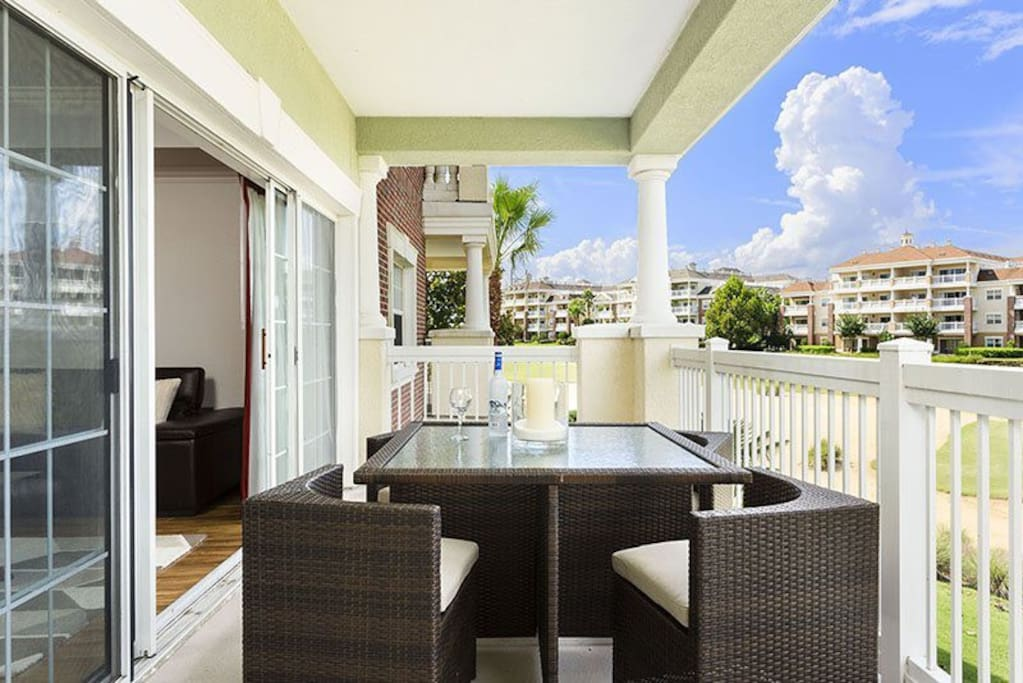 Relax and enjoy the view from your large private balcony