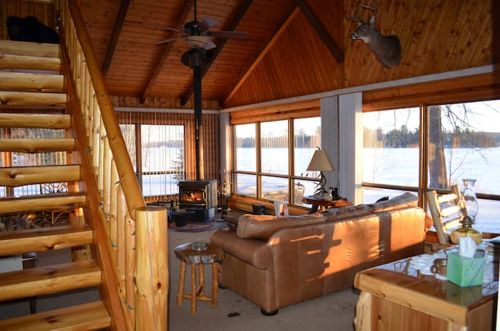 Northwoods log cabin get away!
