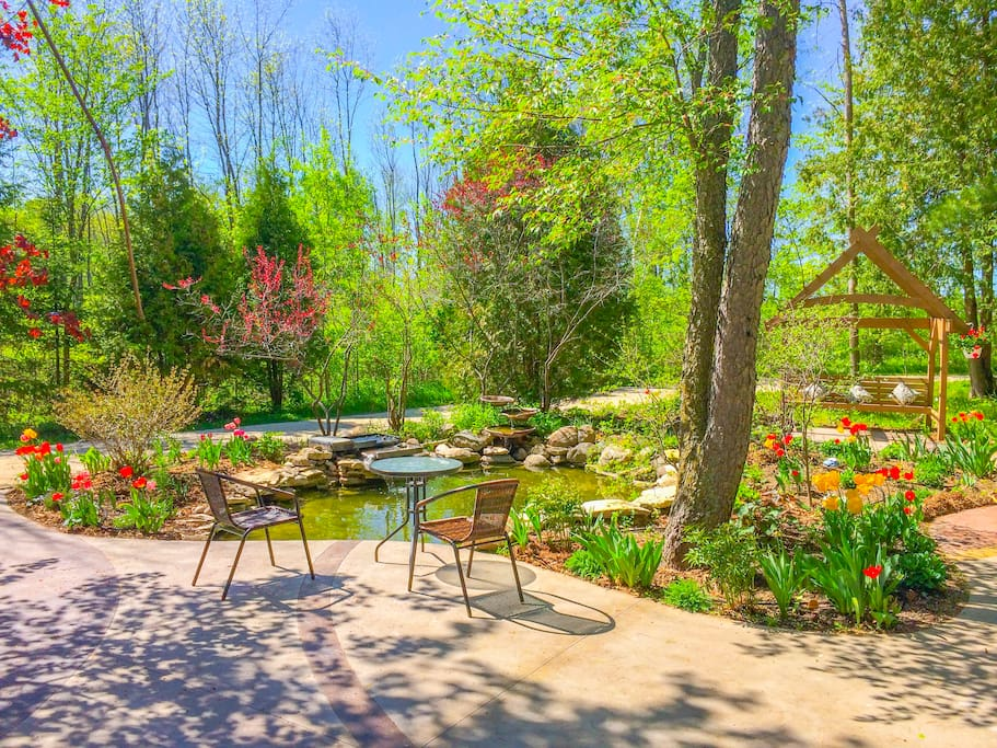 Experience Tranquility while wandering through Plum Bottom's Perennial Gardens