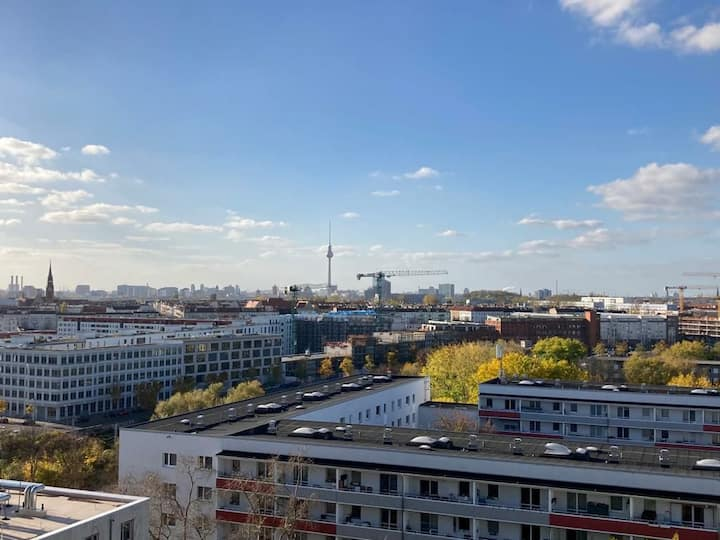 Birds eye View of Berlin 12 th Floor City Center.