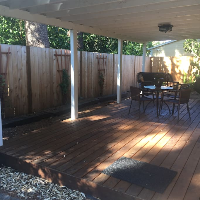 Back deck accessible from master