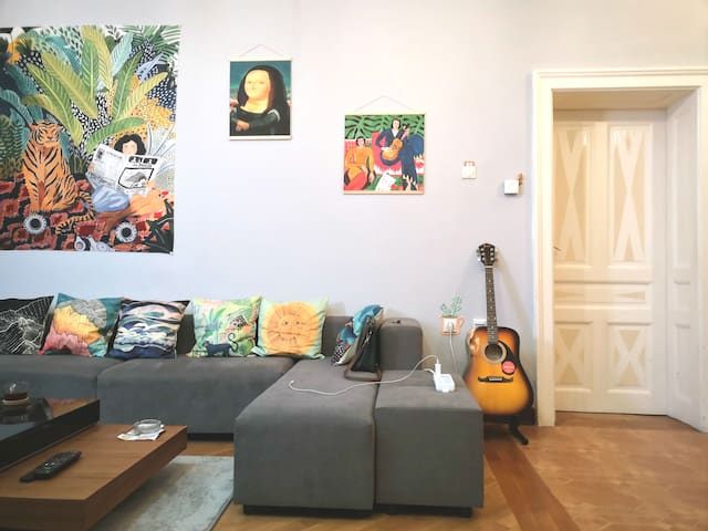 Hostel Hill in Center of city of Belgrade.blueroom