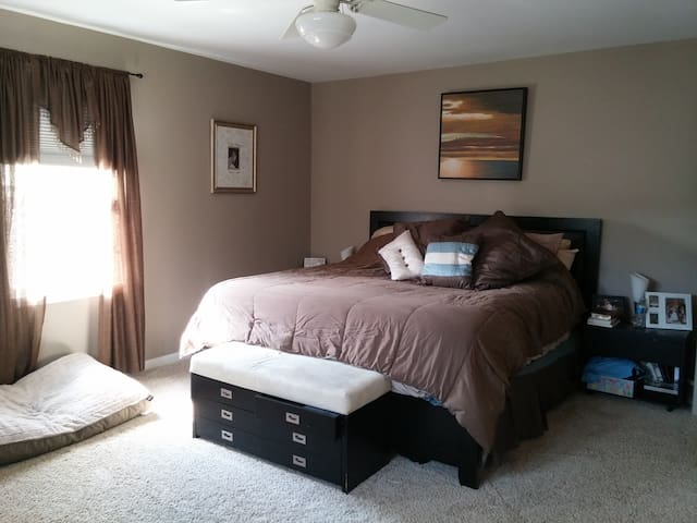 Spacious Master with King and attached master bath