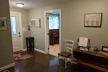 Large, welcoming foyer with a lot of natural light.  Private entrance with PIN access. No keys needed!