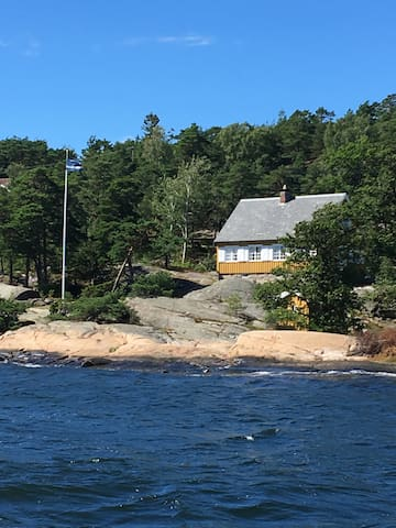 Cozy, simple beach cabin, Hankø, Norway - Gressvik