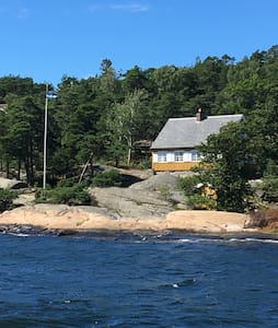 Cozy, simple beach cabin, Hankø, Norway - Gressvik - Stuga