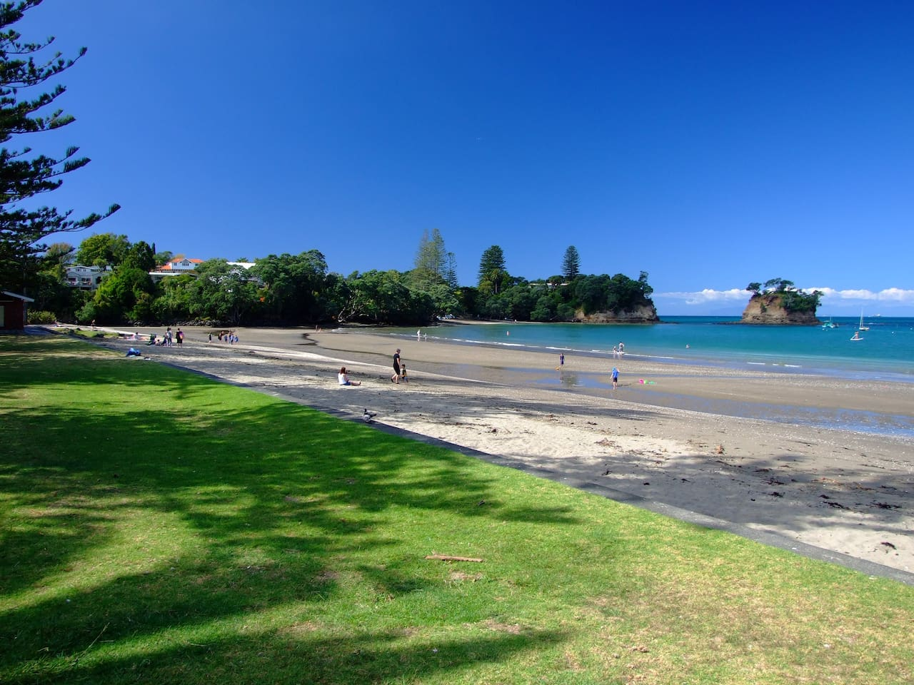Great beach for a picnic or just hang out and watch the world go by, amazing sunsets to be seen from here, only minutes stroll away.