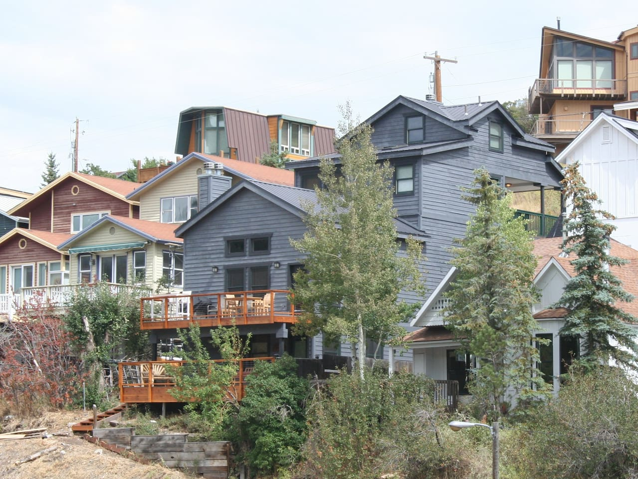 Park City Vacation Rental with designer decoration, panoramic views, and walk to everything location.