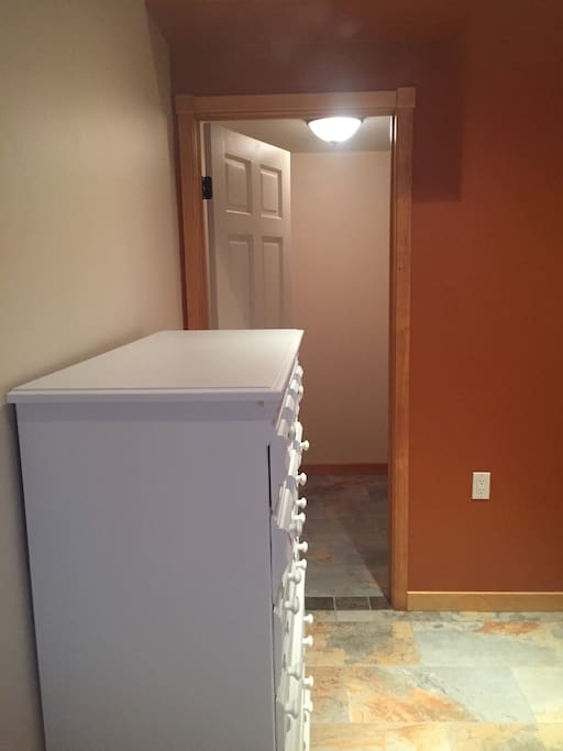Dresser and walk in closet