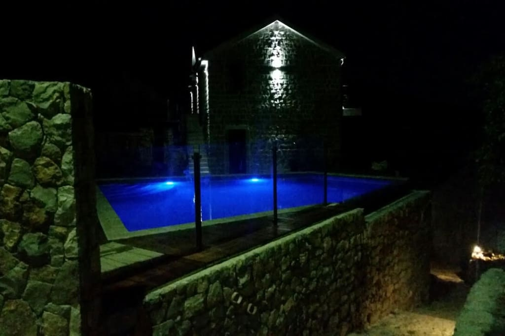 The St. Tryphon Villa at night !!