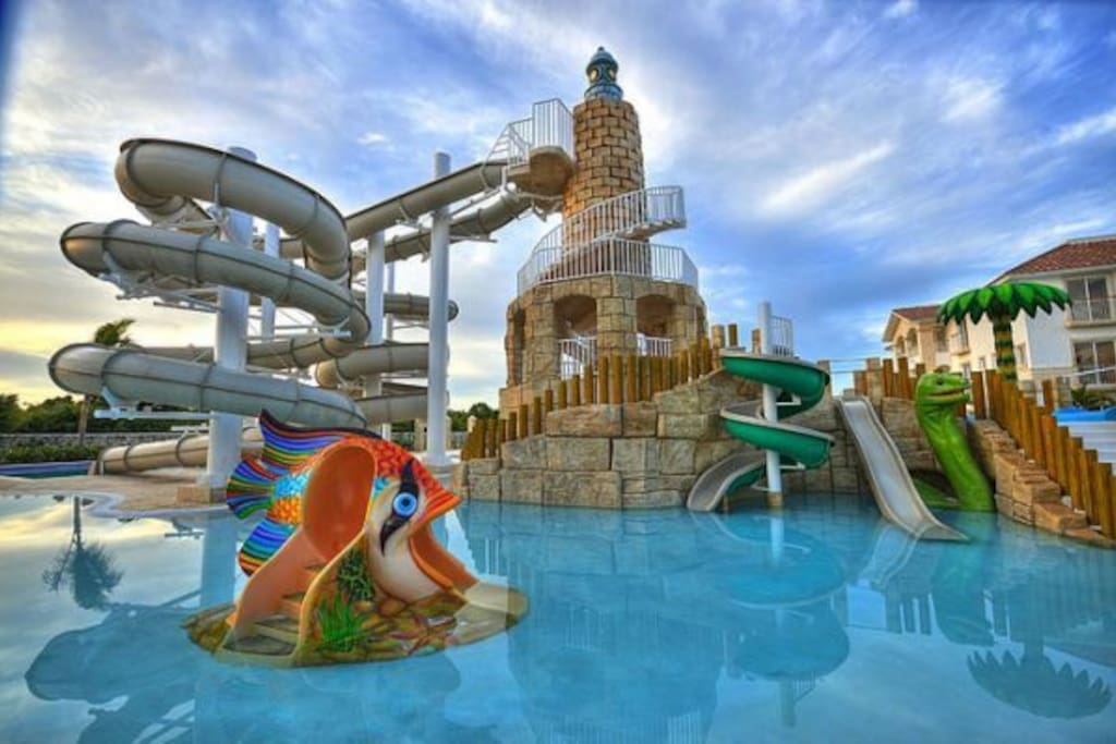 The aqua park - (closed on Tuesday and Thursday for maintenance)