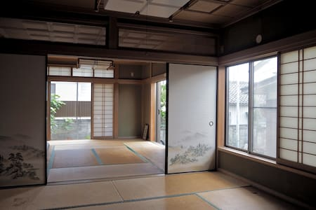 Paddy fields, tatami & breakfast. - Kuki-shi - House