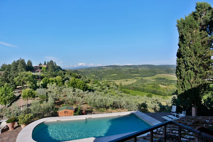 Great view on the Chianti hills, close to Florence - Tavarnelle Val di Pesa - Rumah