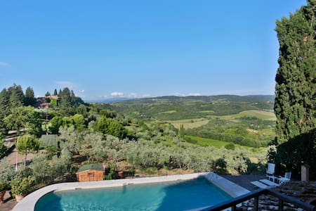 Great view on the Chianti hills, close to Florence - Tavarnelle Val di Pesa