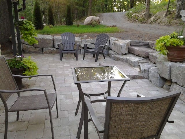 Patio for morning coffee