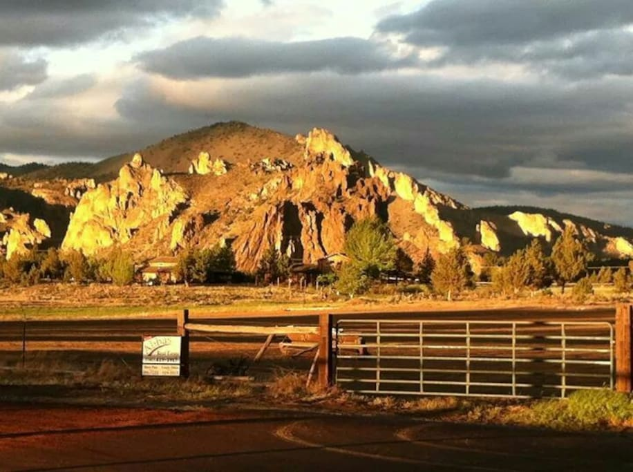 Smith Rock from back patio