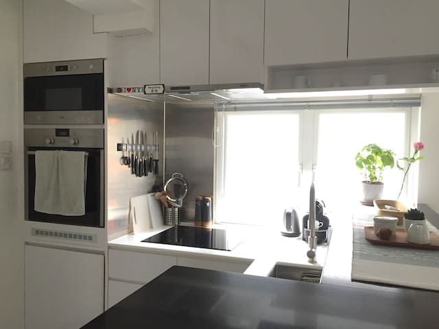 Kitchen, fully equipped with microwave, oven, dishwasher, etc.