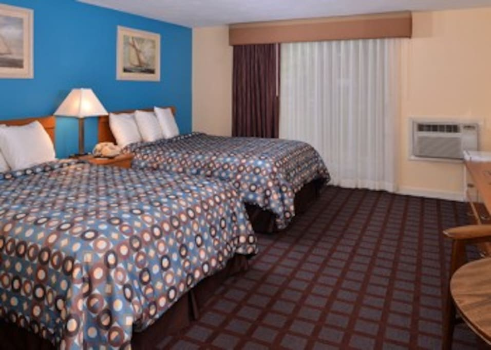 room with two bed