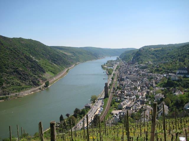 Kleines Paradies am Mittelrhein nahe der Loreley