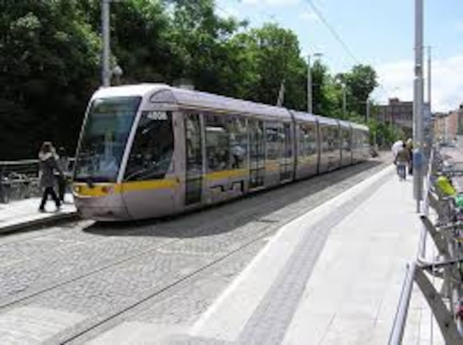 LUAS - fast (15 minutes) and reliable service to St. Stephens Green in the heart of the city.