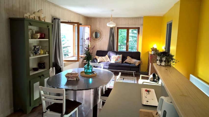 Gîte*** Val Cenis-Lanslevillard. 70m2 - Lanslevillard - Wohnung