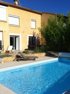 Maison spacieuse et calme + piscine - Nîmes
