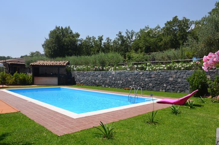 SEACILY ETNA HOUSE POOL & WI-FI - Piedimonte Etneo - Villa
