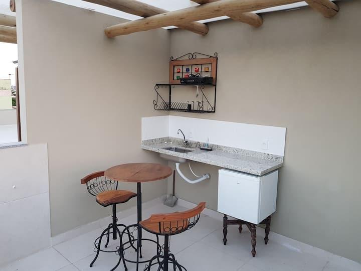 Apartamento de luxo a 300m da Praia de Sta Mônica