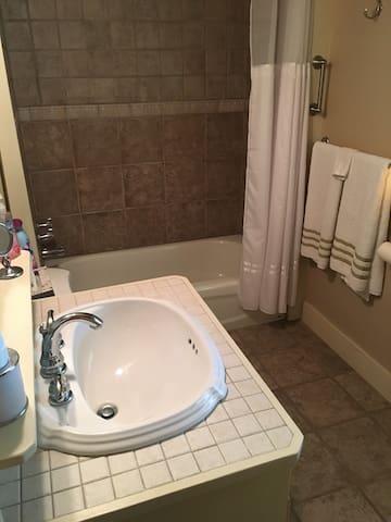 Bath off of 2 bedroom