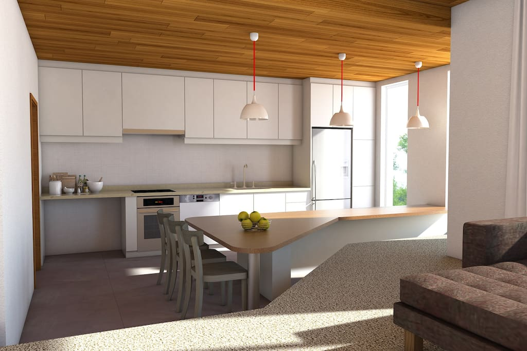 CGI of kitchen post renovation due for completion Dec 2017