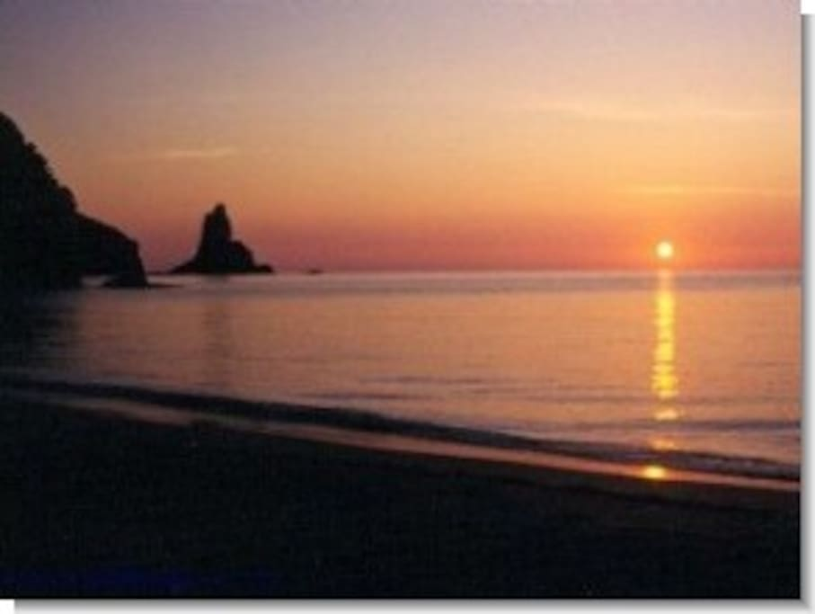 Sunsets in Agios Gordios can be enjoyed from room balconies