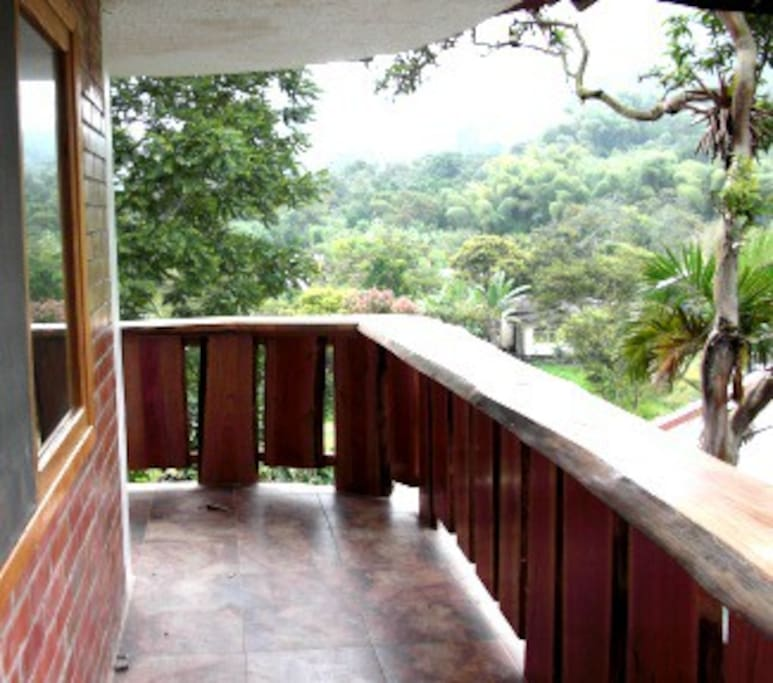 View from one of guest rooms at Mindo Chocolate