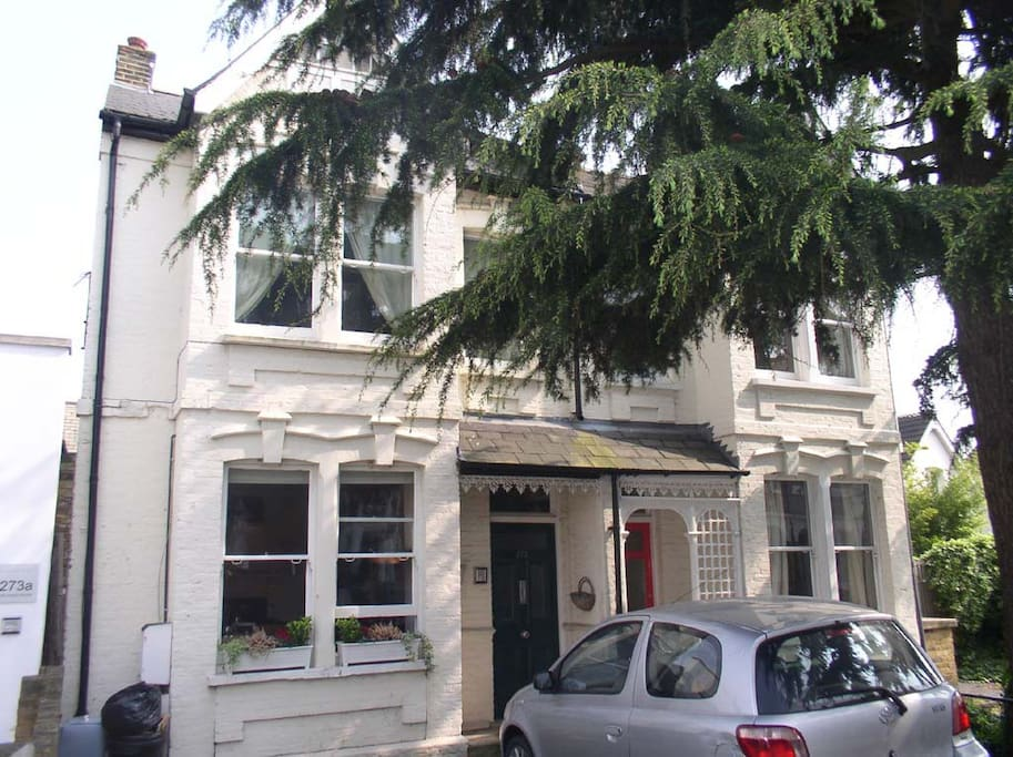 View from street - includes car parking space for one car. Ground floor for easy access!