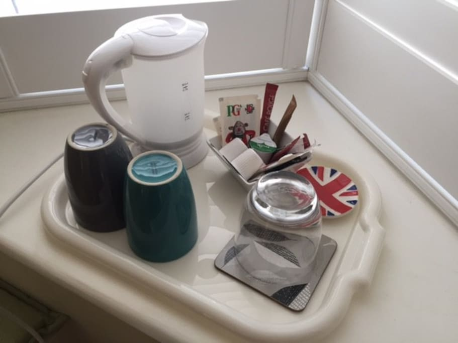 Tea and Coffee facilities are in the room